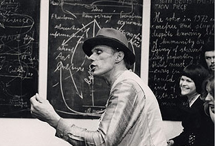 Joseph Beuys at the chalkboard